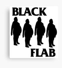 BLACK FLAB Canvas Print