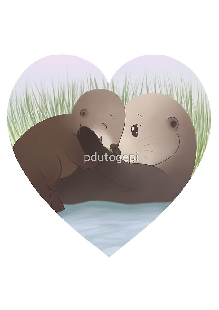 Otter Family by pdutogepi