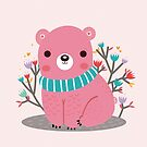 Pink bear by mjdaluz