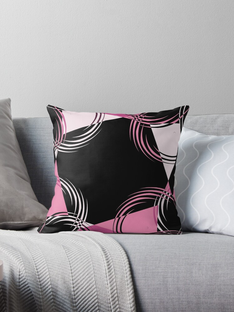 pink black and white abstract by Christy Leigh