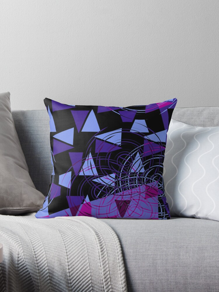 purple pink and black geometric by Christy Leigh