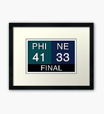 LII Scoreboard Framed Print
