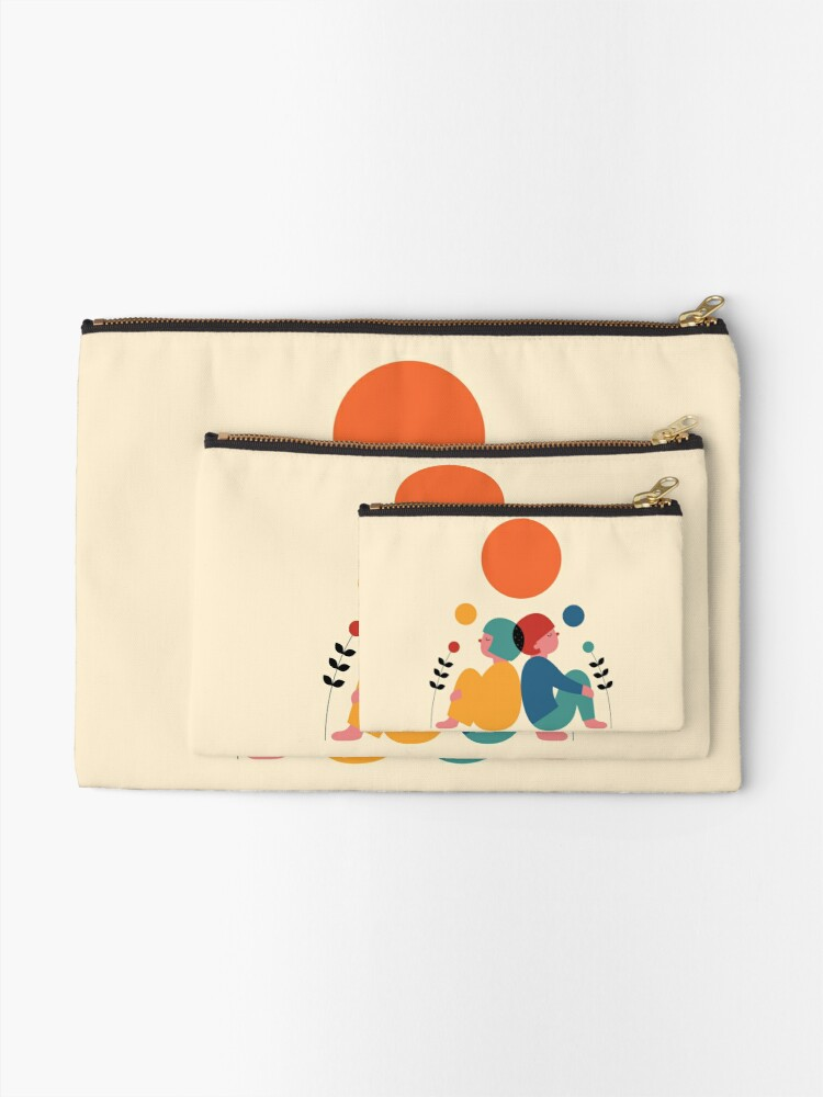 Alternate view of Miss you Zipper Pouch
