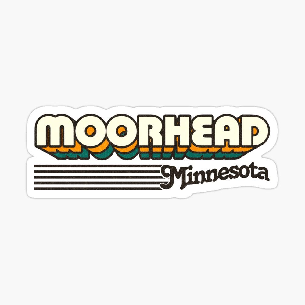 Moorhead, Minnesota | Retro Stripes Sticker