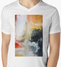 Orange Black Abstract Print  T-Shirt