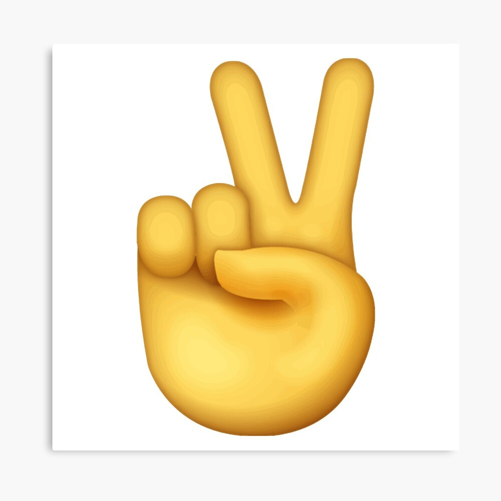 """peace sign emoji"" Canvas Print by emswim07 