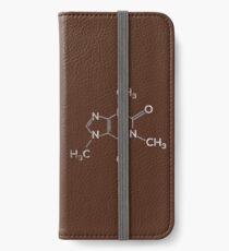 Caffeine Molecule - Funny Coffee Quote Gift iPhone Flip-Case/Hülle/Klebefolie