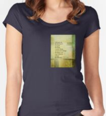 Serenity Prayer Abstract Landscape Green Women's Fitted Scoop T-Shirt
