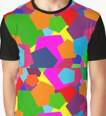 Multi Coloured Shapes Graphic T-Shirt
