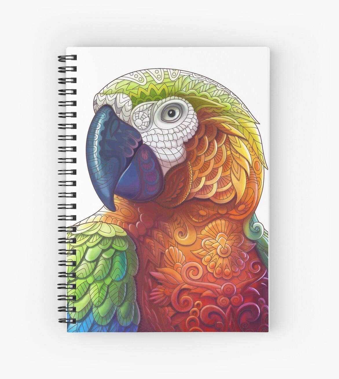 Cuadernos de espiral «Loro del guacamayo - pájaro tropical de la ...