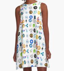 Crypto Coins A-Linien Kleid