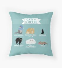 Cats As Coffee Throw Pillow