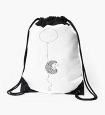 Hedgehog and Balloon Drawstring Bag