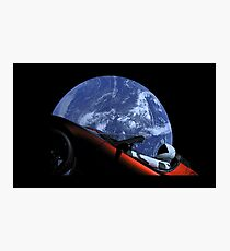 Starman in Tesla Roadster in Space Photographic Print