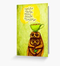 What my #Coffee says to me - March 17, 2015 Greeting Card