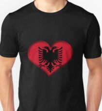 Albania Heart Flag Unisex T-Shirt