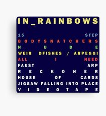 Radiohead - In Rainbows Canvas Print
