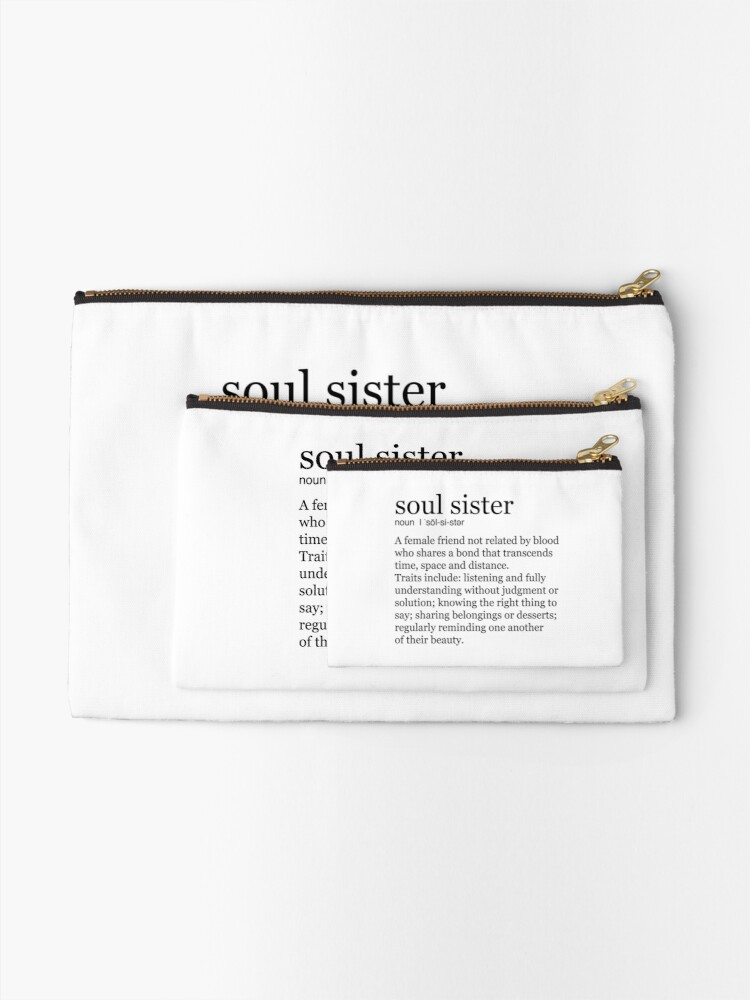 Alternate view of Soul Sister Zipper Pouch