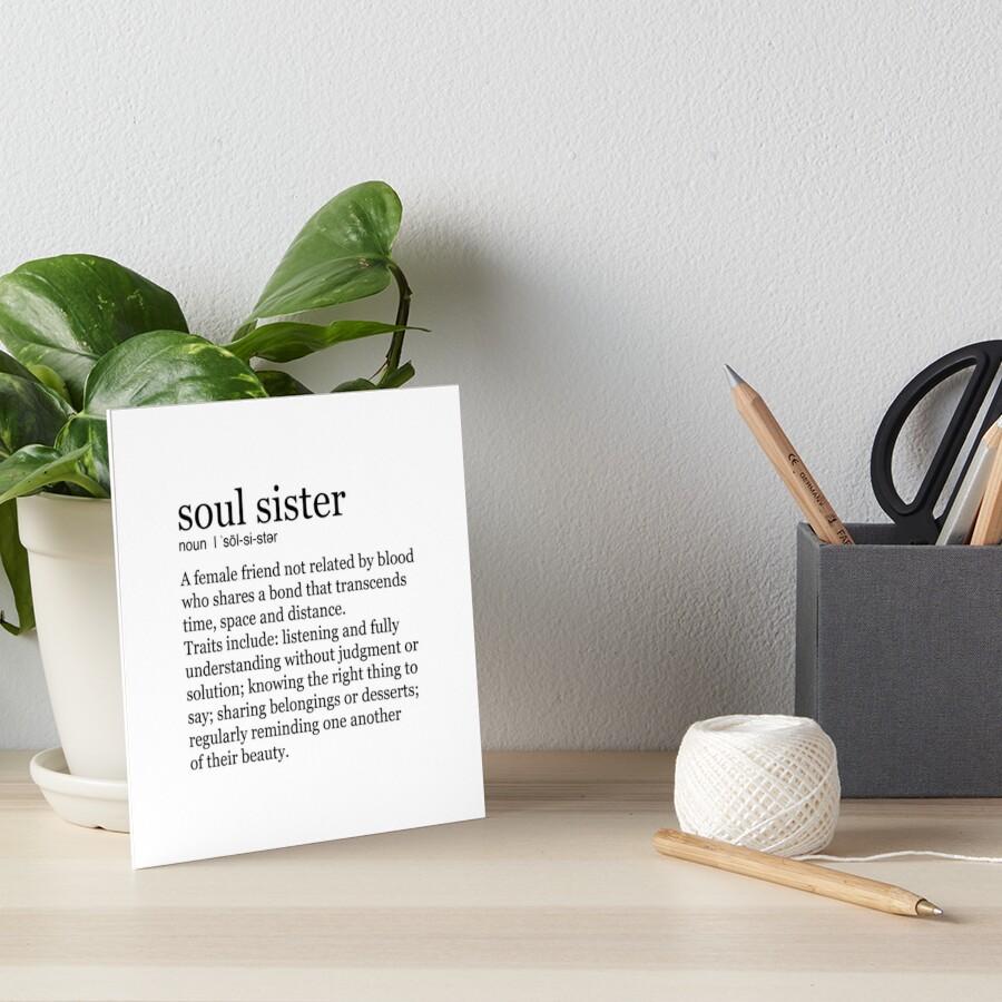 Seelenschwester Galeriedruck