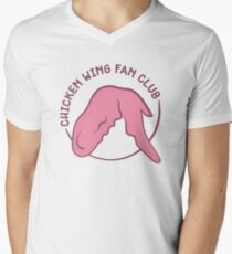 Chicken Wing Fan Club (pink) Men's V-Neck T-Shirt