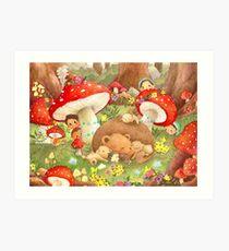 Watercolor Illustration   Forest Fantasy Art Print