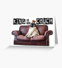 King of the Couch Greeting Card