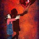Die Liebe Ballons und kleines Mädchen von Dadang Lugu Mara Perdana