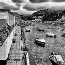 West Looe in Schwarzweiss von Jay Lethbridge