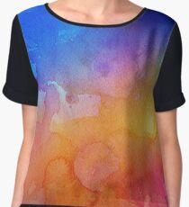 astroid glitter watercolor.  Chiffon Top