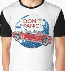 Don't Panic! - a tribute to Elon Musk, Spaceman and the Red Roadster Graphic T-Shirt