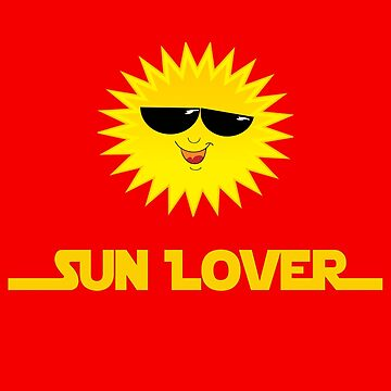 Cool Sun Cartoon Face - Love Sunshine Bake Tan T-Shirt by deanworld