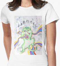 Rainbow Kitten Women's Fitted T-Shirt
