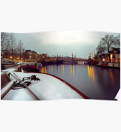 snow on the Amstel Poster
