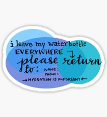 Waterbottle lost and found tag Sticker