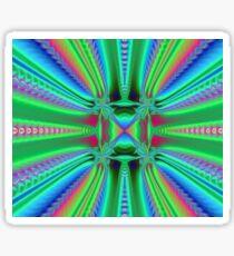 Green Abyss Fractal Sticker