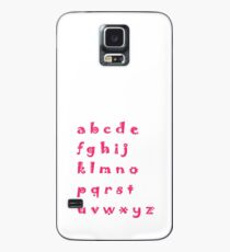 Alphabet red letters Case/Skin for Samsung Galaxy