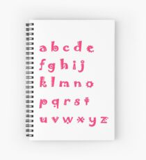 Alphabet red letters Spiral Notebook