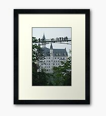 Neuschwanstein Castle Bridge  Framed Print