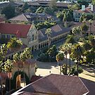 Stanford University Main Quad from Above by Hotaik  Sung