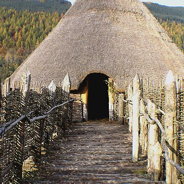 The entrance walkway to the Crannog on Loch Tay. by RodrossarioMP