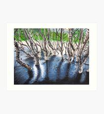 Zebra Treez Art Print