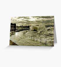 Rough Sea At Minnis Greeting Card