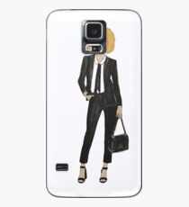 Coily In Black Case/Skin for Samsung Galaxy