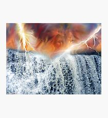 His voice is over many waters, the God of glory thunders! Photographic Print