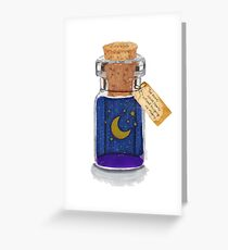 Dreams in a bottle Greeting Card