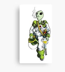 alien pilot is a film fan Canvas Print