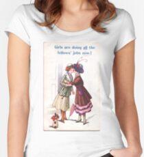 Lesbische Suffragetten Tailliertes Rundhals-Shirt