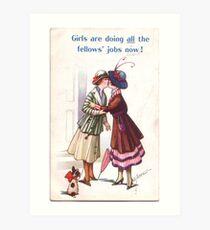 Lesbian Suffragettes Art Print