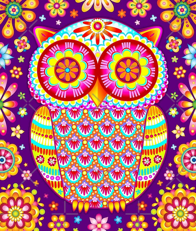 """Colorful Owl Art"" by Thaneeya McArdle 