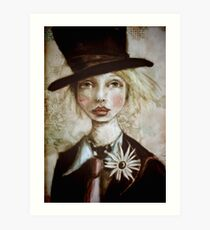 Mad Hatter in Wonderland Art Print